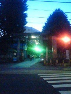 今戸神社♪でももう真っ暗。w