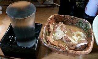東邦酒場の絶品「モツ煮込み」とお店の日本酒「酒人」♪